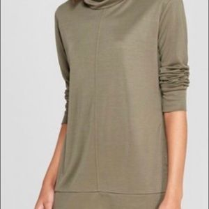 A New Day Olive Cowl Long Sleeve Top